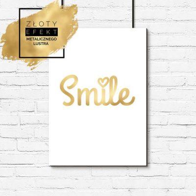 Złoty plakat smile
