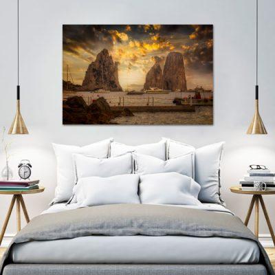 obraz z wybrzeżem do sypialni