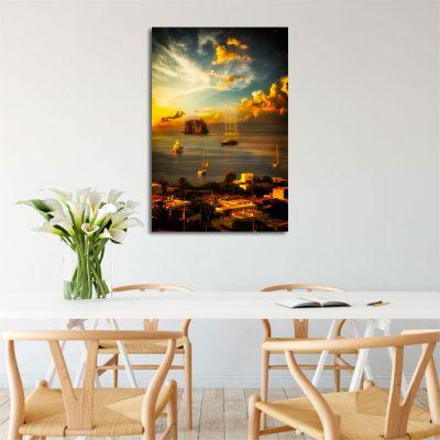 wybrzeże Sycylii na obrazie