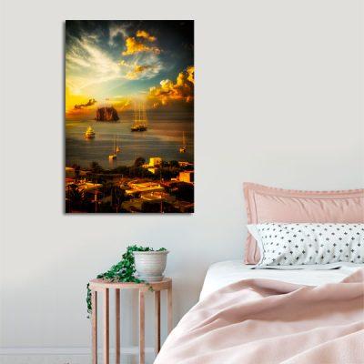 wybrzeże Sycylii jako obraz