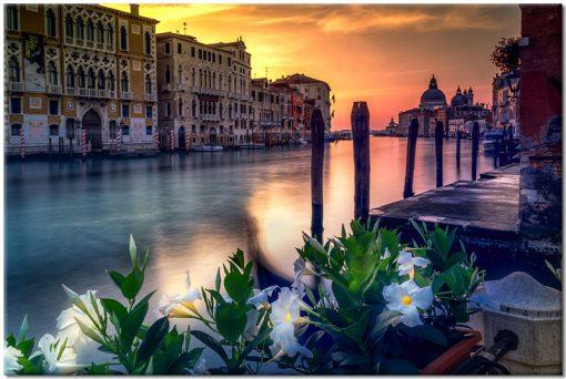 Wenecja kolorowa na obrazie