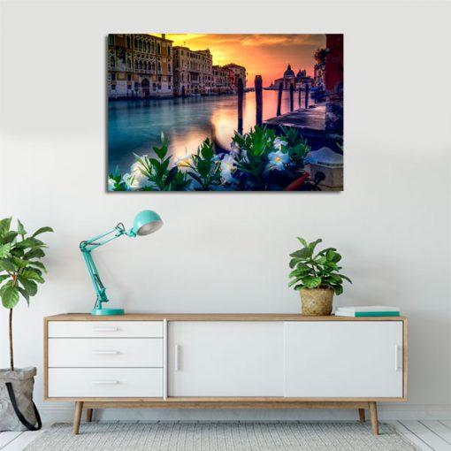 obraz z kolorową Wenecją