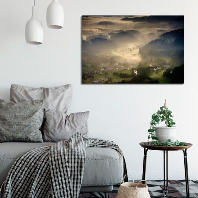 mgła na obrazie