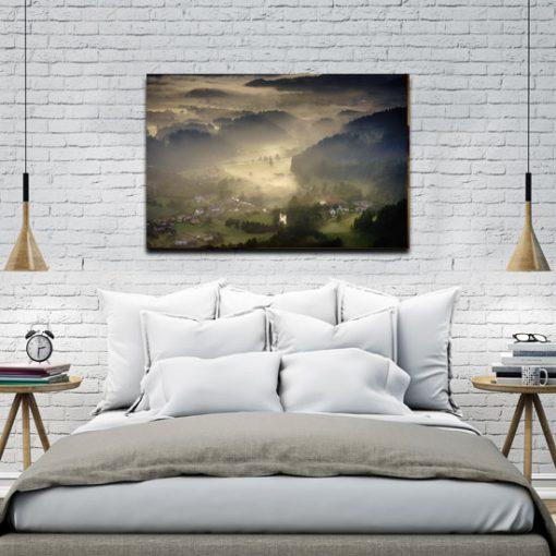 sypialnia z chmurami