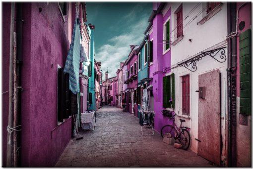 różowo-fioletowy obraz