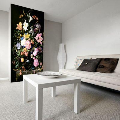 dekoracje z wiązankami kwiatów