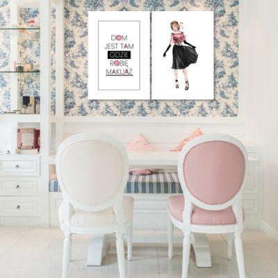 podwójna dekoracja do salonu