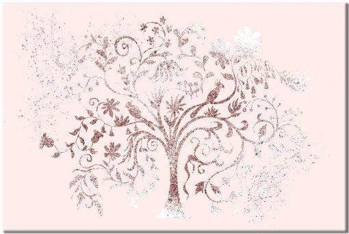 miedziane drzewo z rózem