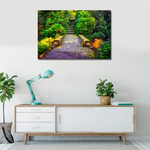 salonowa dekoracja z przyrodą