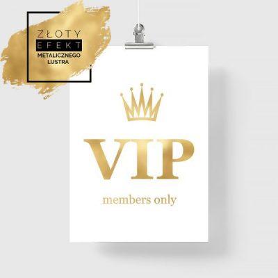 Plakat złoty VIP