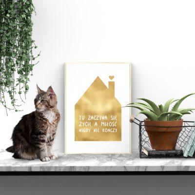 motyw domku na plakacie