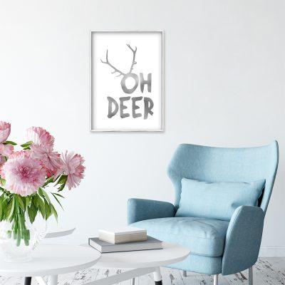 plakat z napisem oh deer