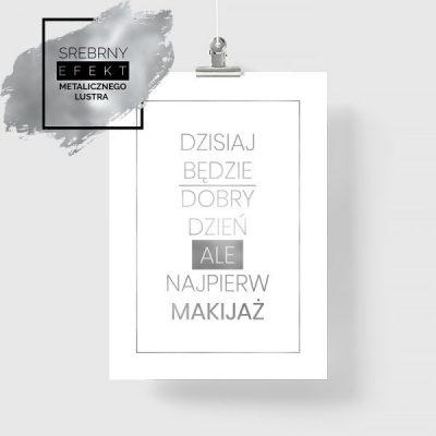 Plakat srebrny makijaż