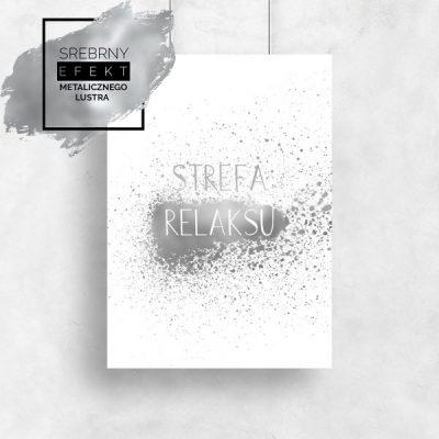 Plakat srebrny strefa relaksu
