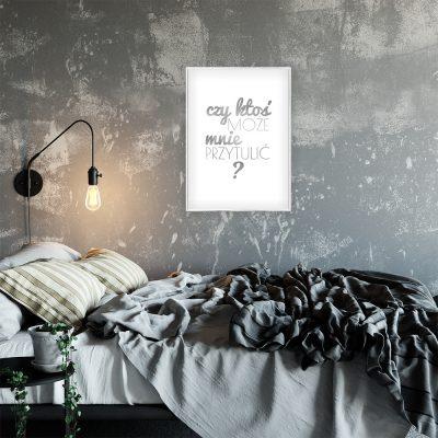 plakat do sypialni srebrny