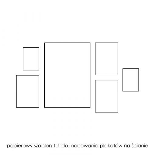 papierowy szablon do wieszania galerii plakatów