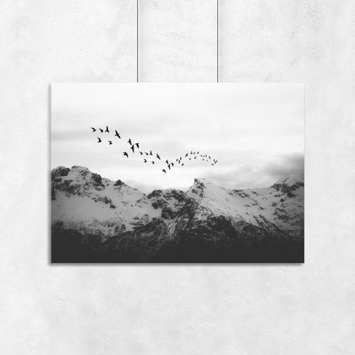 dekoracja z motywem gór
