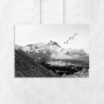 plakat z górami