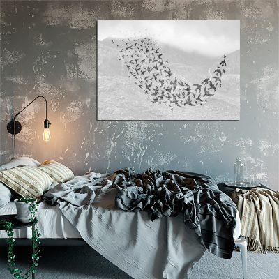 plakat z motywem ptaków