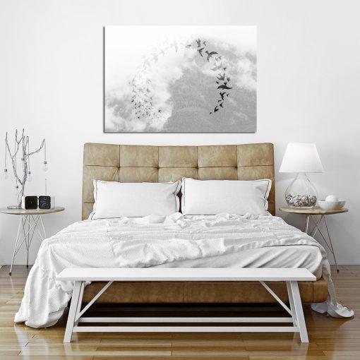 dekoracja czarno biała
