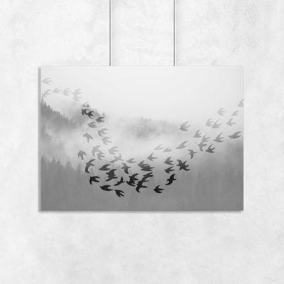 ozdoba z motywem ptaków