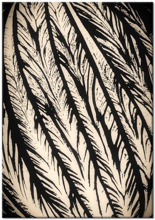 plakat z roślinną abstrakcją