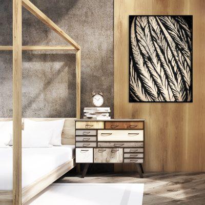 plakat z motywem roślinnej abstrakcji