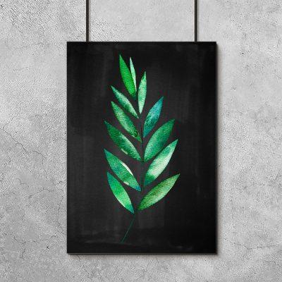 dekoracja w kolorze czarno-zielonym