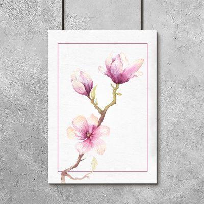 ozdoba w kolorze biało różowym