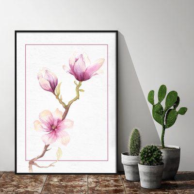Dekoracja z motywem kwiatowym