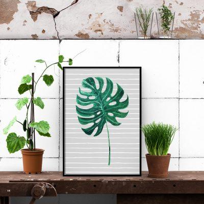 plakat w stylu tropikalnym