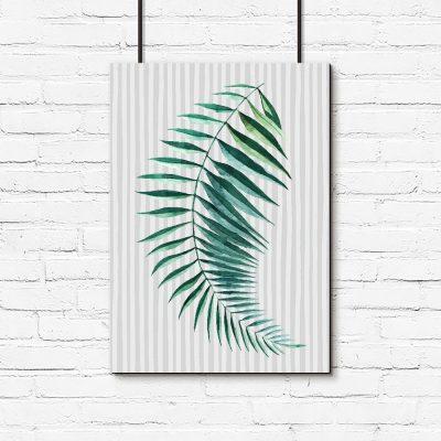 dekoracja z motywem liścia