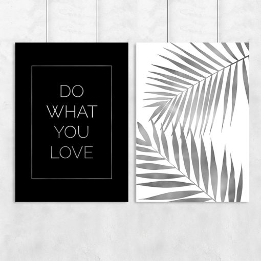 plakat z srebrnymi listkami