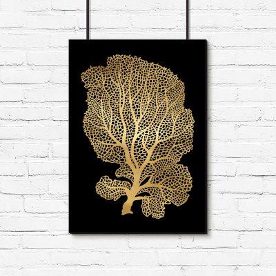 plakat z motywem drzewa