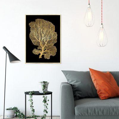 plakat z motywem złotego drzewka