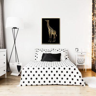 motyw pionowej żyrafy na plakacie