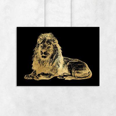 lew jak złoto na plakacie