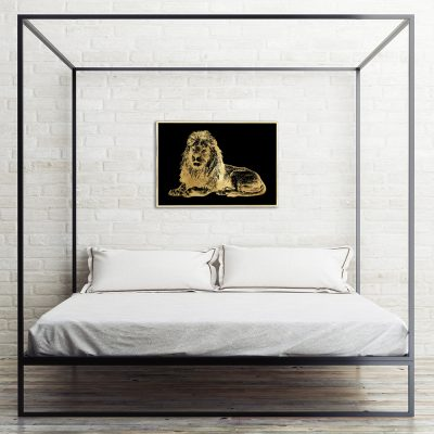 złoty lew jako plakat