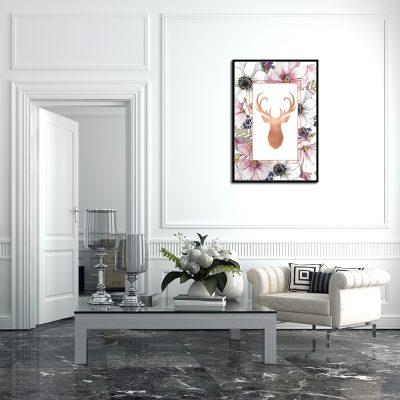 metalizowane dekoracje na ściany