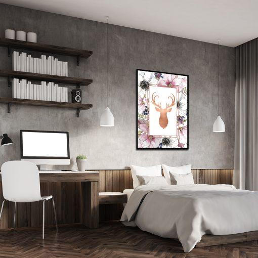 miedziana dekoracja do sypialni