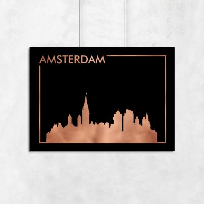 plakat metalizowany z serii miast