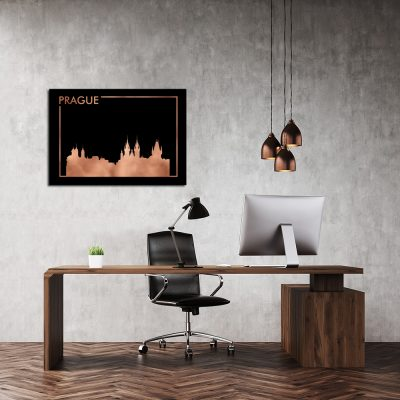 plakat miedziany z serii miast