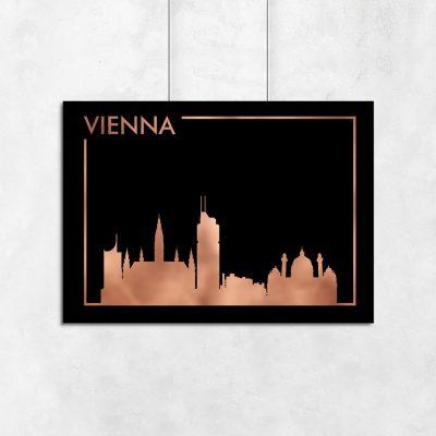 plakat metaliczny z Wiedniem