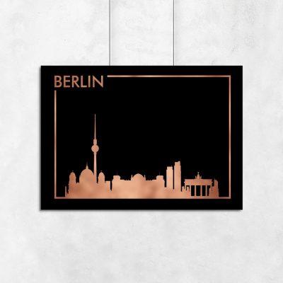 metalizowany plakat z miastem