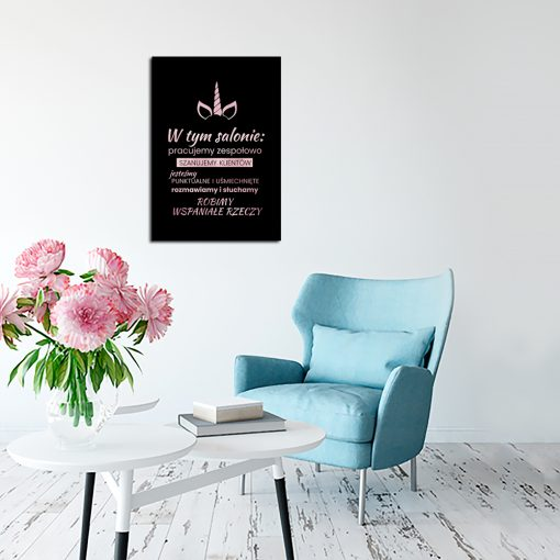 rose gold plakat do salonu kosmetycznego