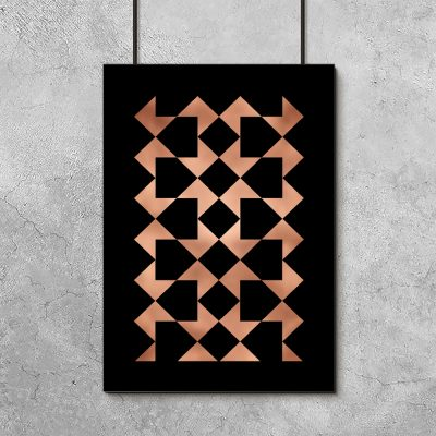 plakat z abstrakcją