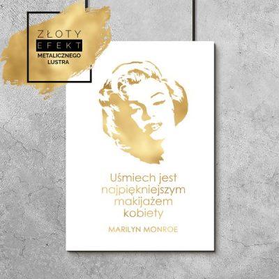 Plakat z Marilyn Monroe złoty