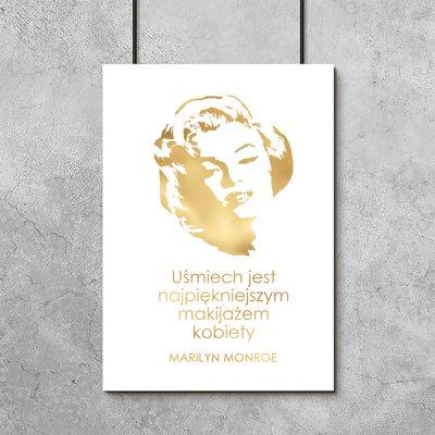 plakat złota Marilyn