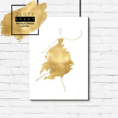 Złoty plakat kobieta