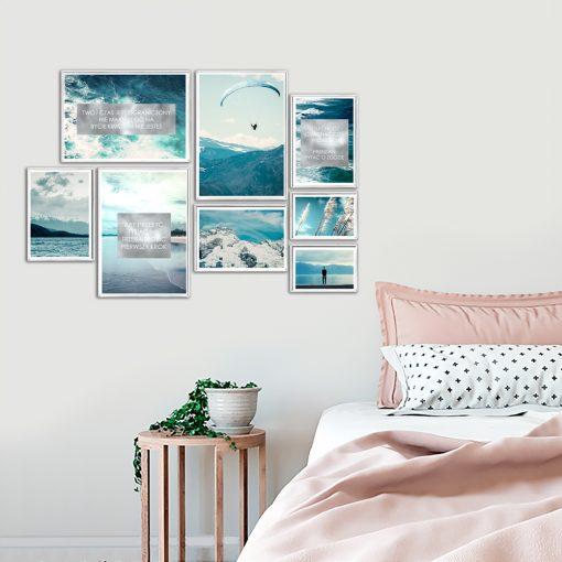 kolaż plakatów